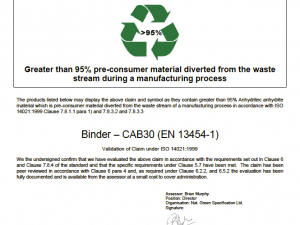 NGS Echo ISO 14021:1999 CAB 30 Binder Anhydritec GmbH Germany