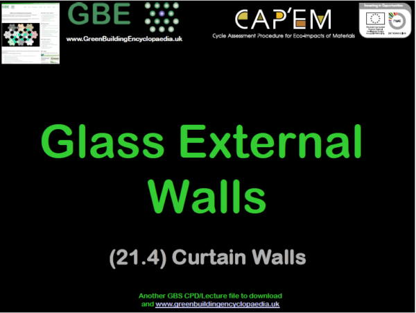 GBE Lecture (21.4) Glass External Walls S1