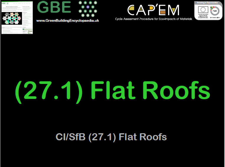 GBE Lecture (27.1) Flat Roofs S1