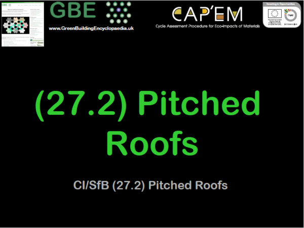 GBE Lecture (27.2) Pitched Roofs S1