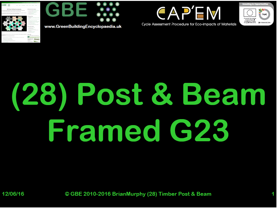 GBE Lecture (28) Post + Beam Framed G23 S1