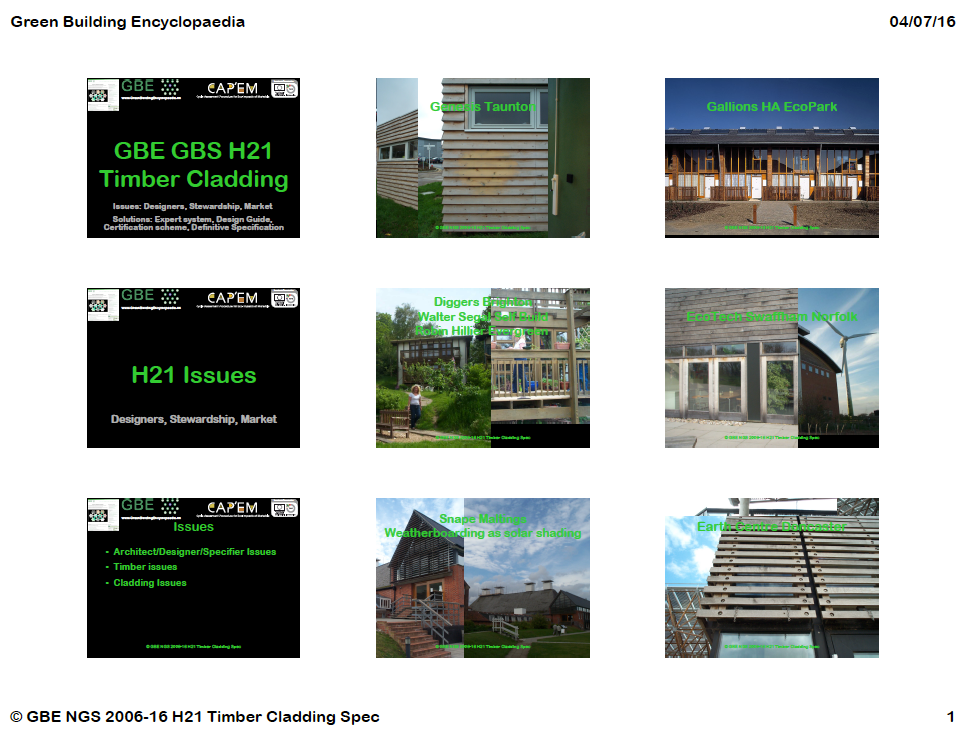 GBE CPD H21TimberCladding 9H1