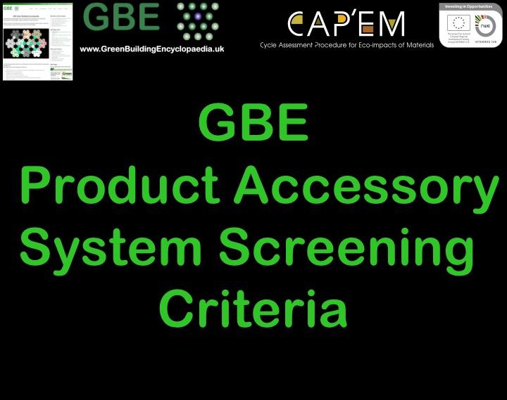 GBE PASS Criteria 31