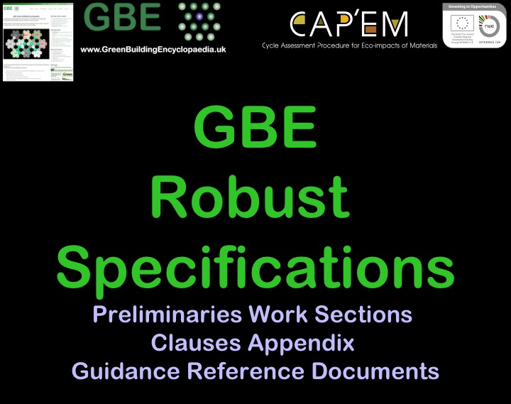 GBE Robust Specifications 13