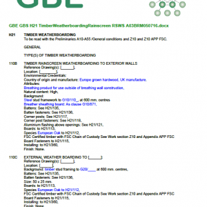 GBS H21 TimberWeatherboardingRainscreen RSWS Cover