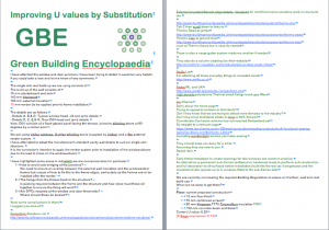 GBE brainstorm improving u values by substitution