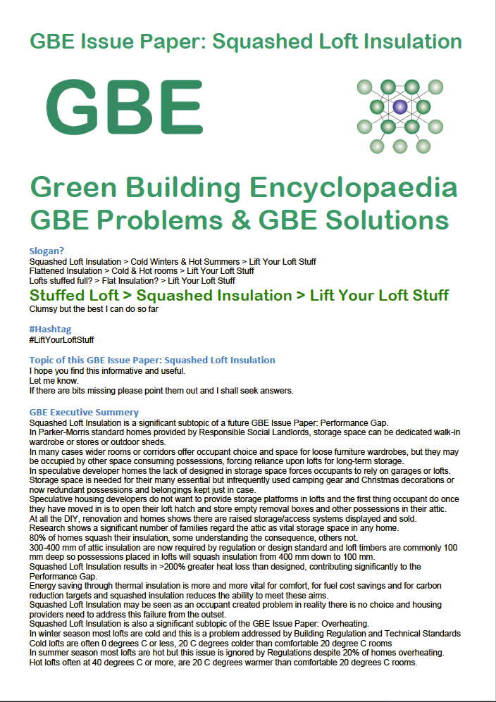gbe issue paper squashed loft insulation cover