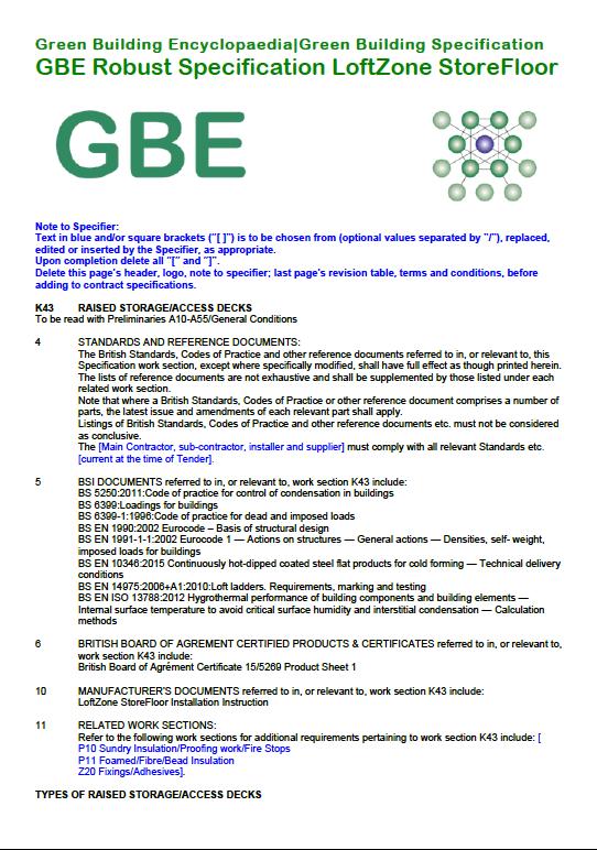 GBS K43 120A StoreFloor (RSW) G#14031