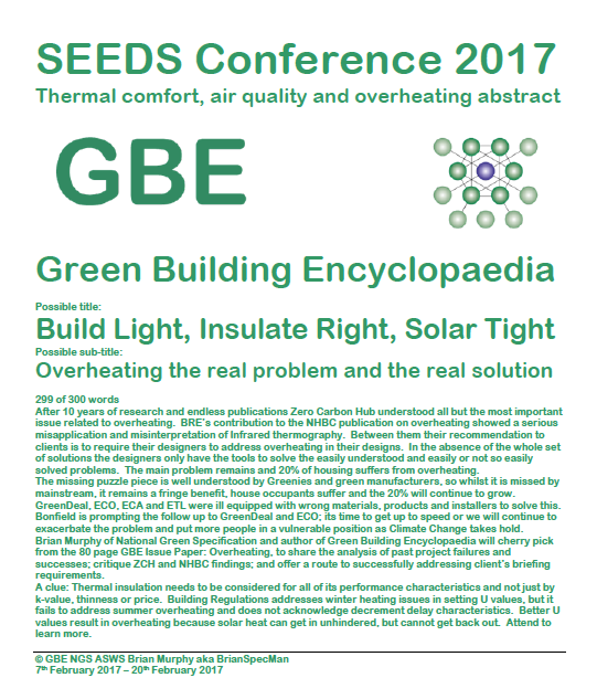GBE SEEDS Conference 2017 Overheating Abstract