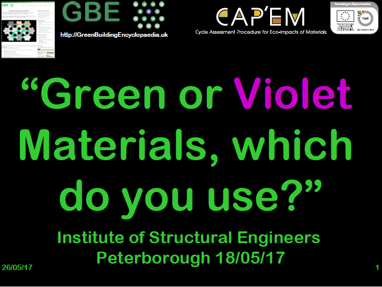 Green or Violet materials, which do you use (CPD) #G15560
