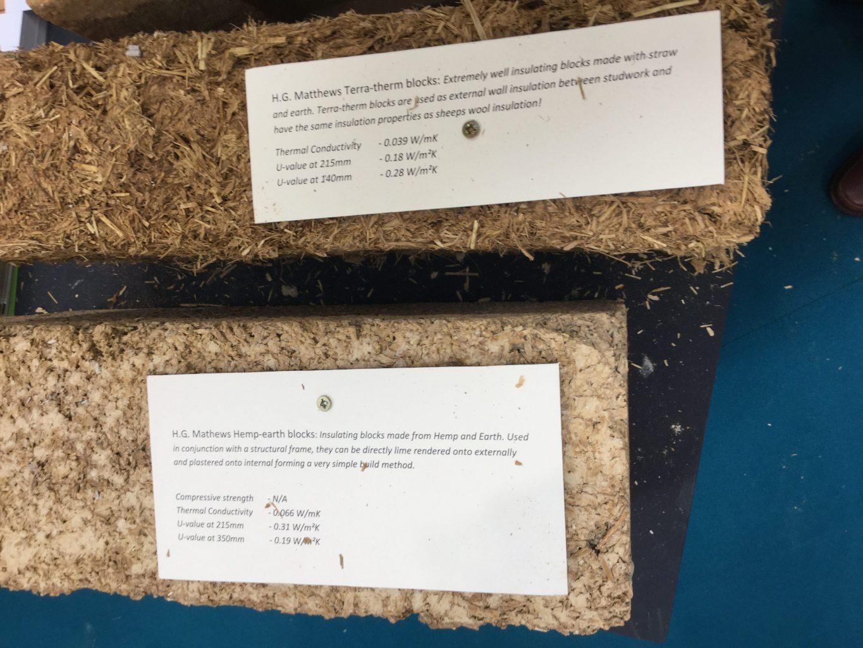H G Mathews Terra-therm and hemp-earth blocks