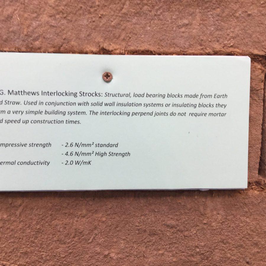 H G Mathews Interlocking Strocks Unfired clay blocks
