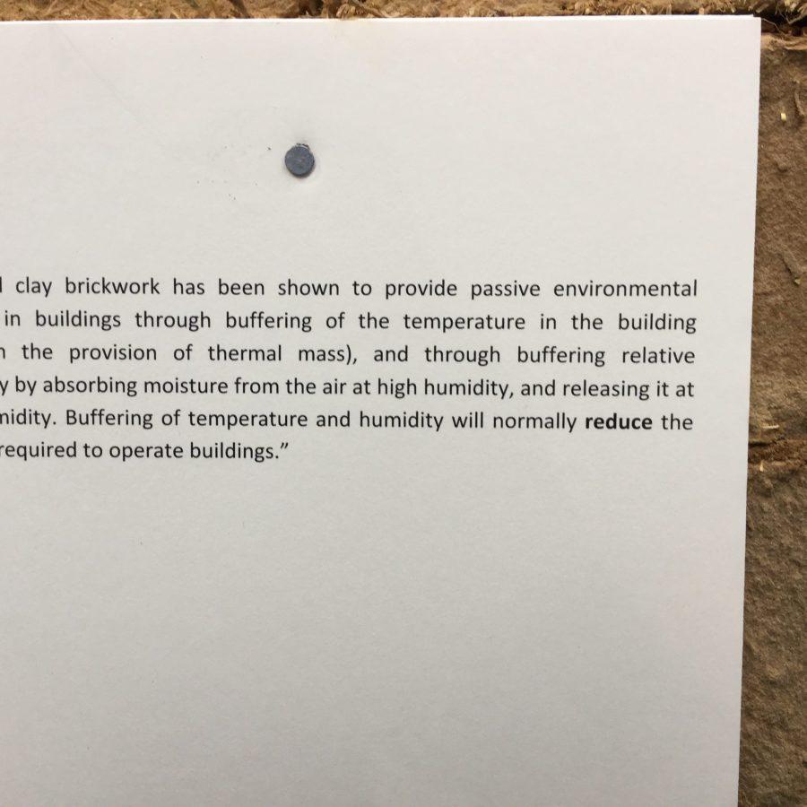 H G Mathews Strocks Unfired clay bricks; thermal and moisture buffering
