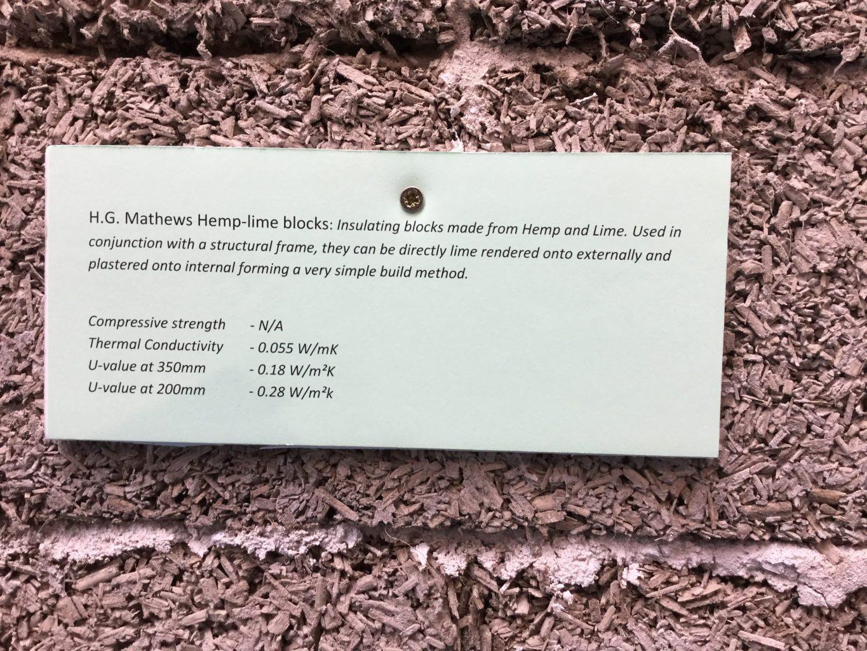 H G Mathews Hemp-lime blocks
