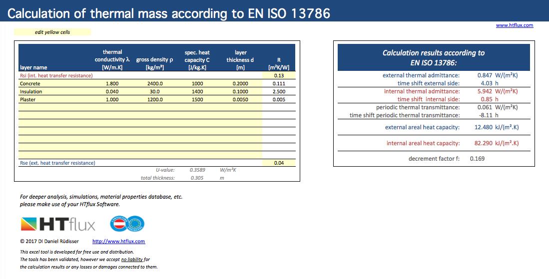 Thermal Mass(Calculator) G#16163