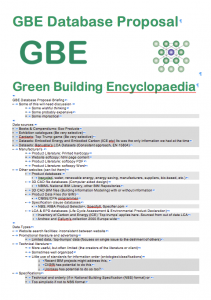 GBE Database Proposal 21 07 2018