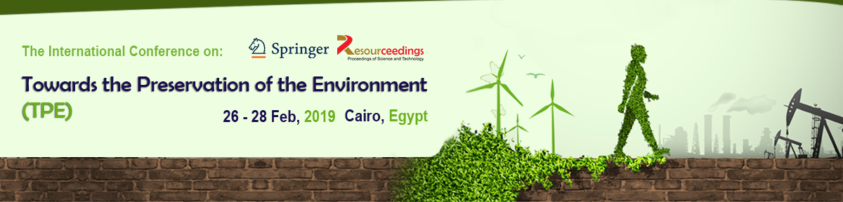 Towards the preservation of the Environment TPE 2019 Banner