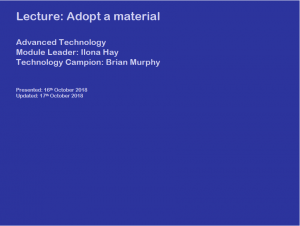 GBE Lecture Adopt a Material BRM171018 S1
