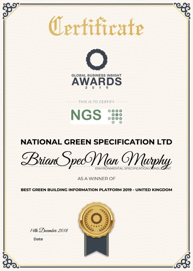 Global Business Insight 2019 (Award) G#20123