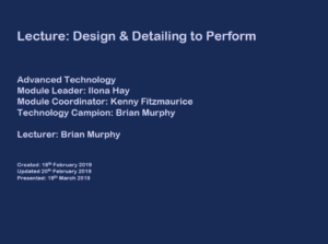 GBE Lecture DesignToPerform A02 BRM 200219 S1 Cover Slide PNG