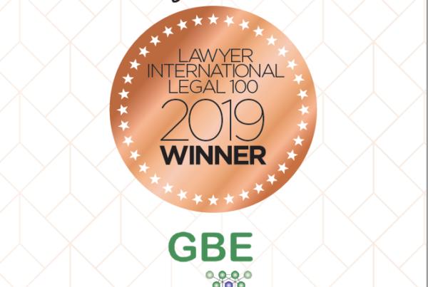 Lawyer International Legal 100 2019 Award