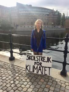 Greta 1st School Strike for Climate