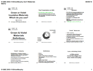 GBE CPD Green or Violet Materials Which Do You Use 9H1 Handout Cover 5+A In house CPD