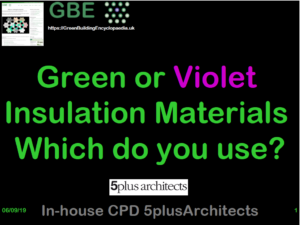 GBE CPD Green or Violet Materials Which Do You Use S1 Cover 5+A In house CPD