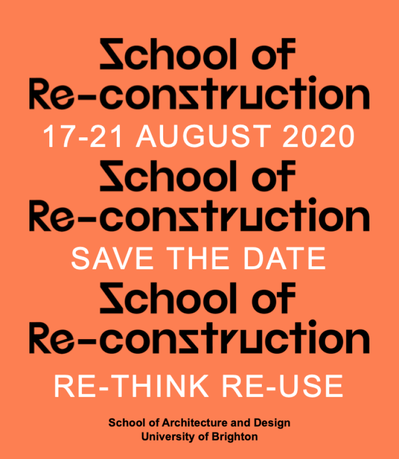 Zchool Of Re-Conztruction Event Poster