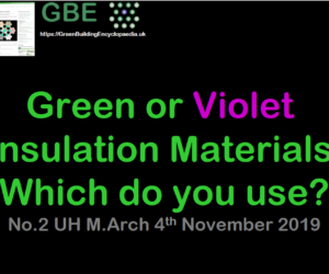GBE Lecture 2 Green or Violet Materials Insulation UH MA 2019 S1 PNG Show Cover