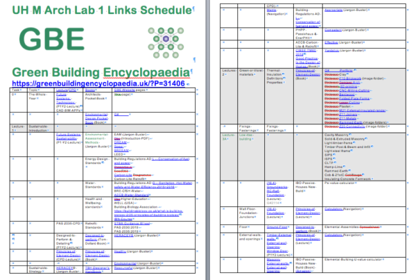 UH M Arch Lab1 GBE Links Schedule 151119 2P PNG Cover