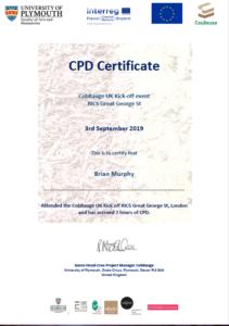Interreg CobBauge Kick-off CPD Cert B Murphy PNG