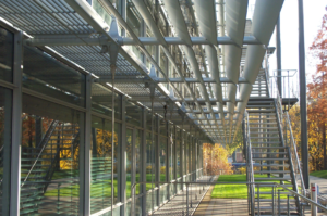 Chiswick Park Offices Solar Shading and Stairs