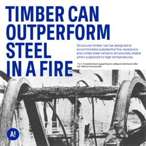 ACAN Timber can outperform Steel in a fire, Combustible Materials Consultation Campaign