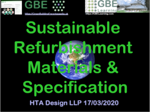 GBE CPD Sustainable Refurb Materials Spec BRM190320 S1