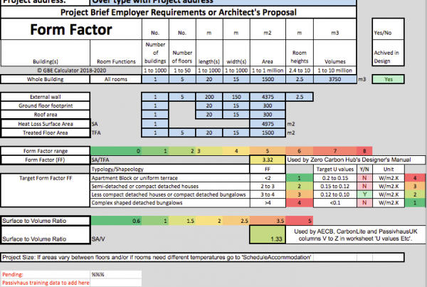 GBE Green Building Calculator Form Factor A13 BRM 250520 PNG