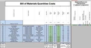 GBC Bill of Materials Quants Costs V2 A15 BRM 280920