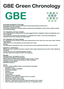 GBE Chronology Sustainable Development 2021 PNG