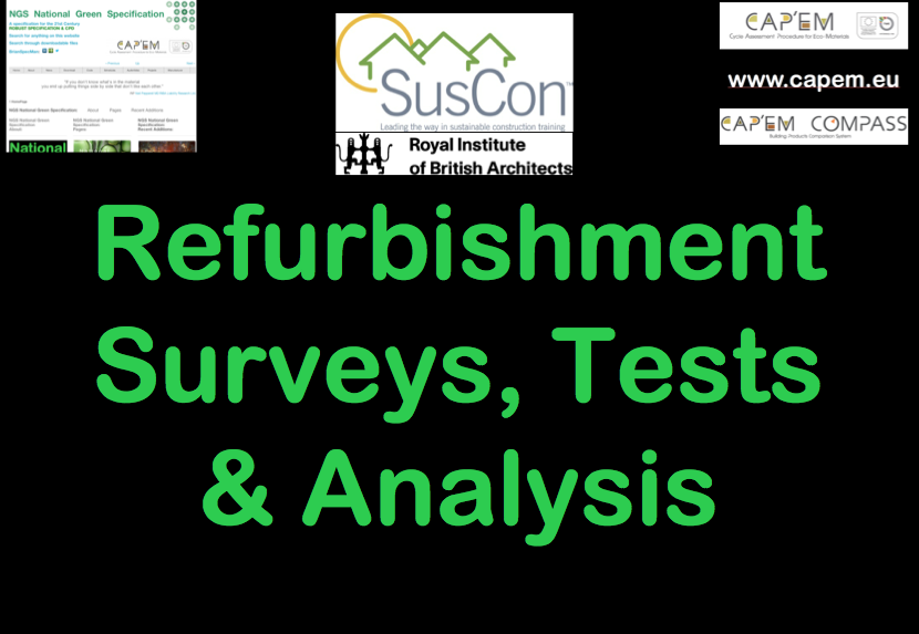 Refurbishment Surveys Tests Analysis Page 1 png CPD Cover