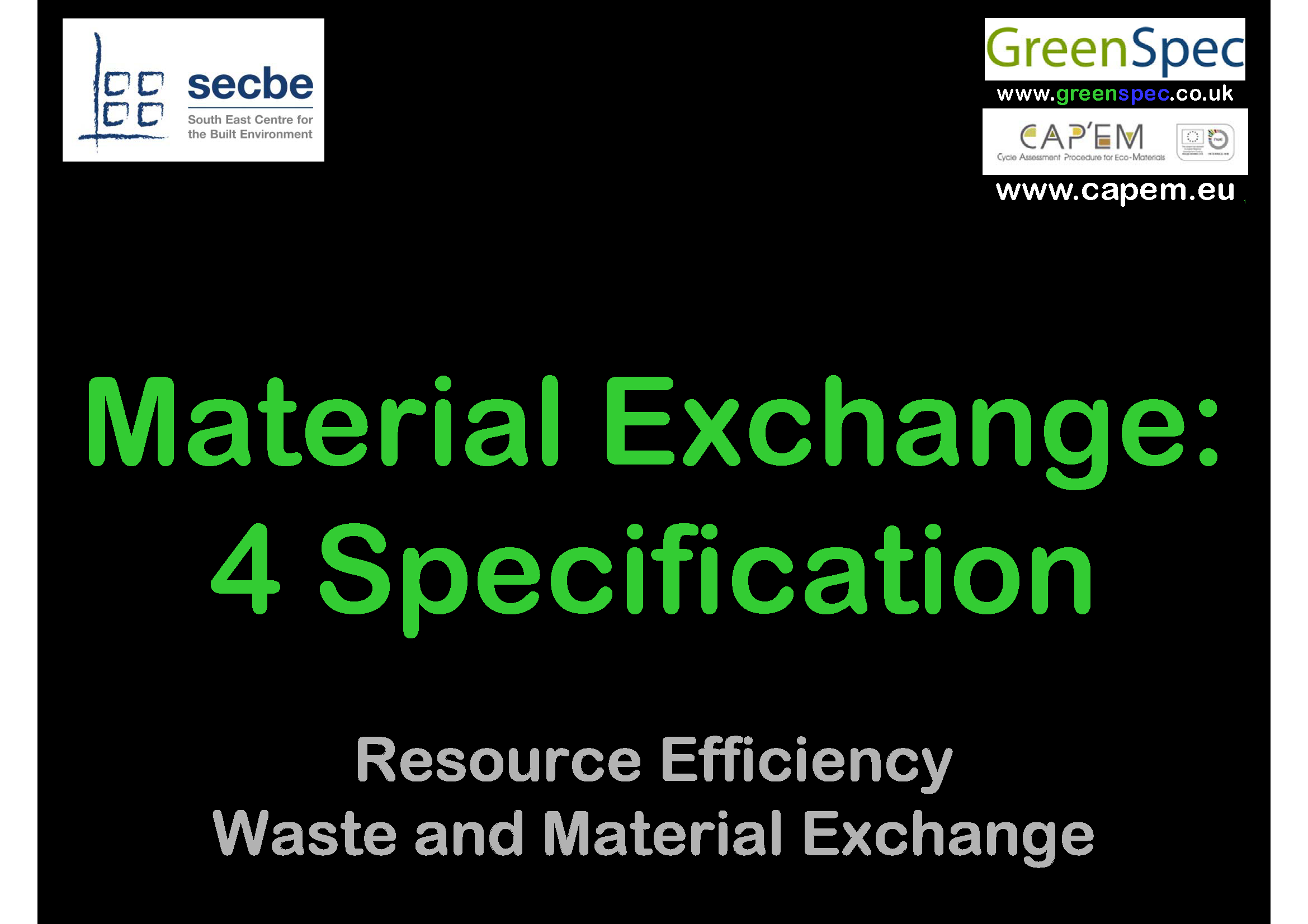Material Exchange 4 Specification Cover png